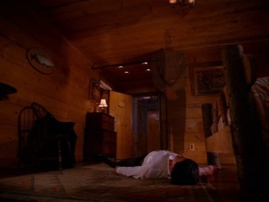 The Giant dissolves into thin air as Cooper lies helpless on the floor