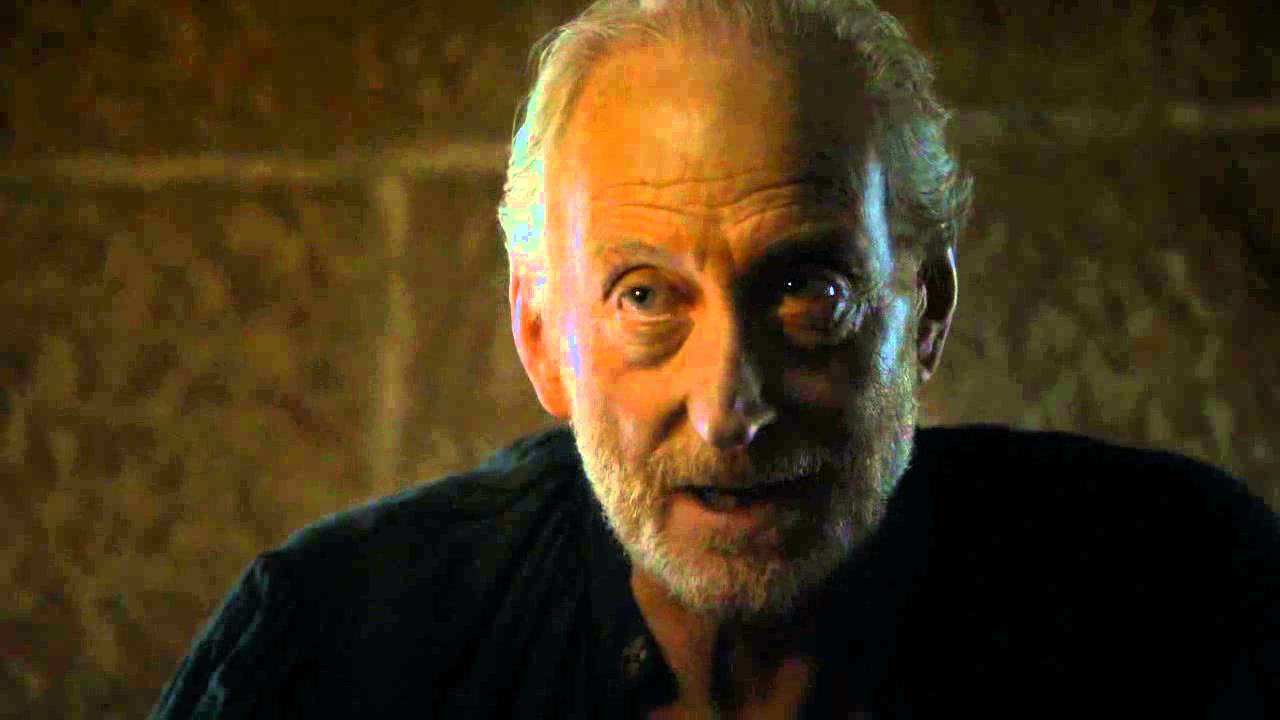 Tywin Lannister (Charles Dance) tries to talk his way out of his son Tyrion