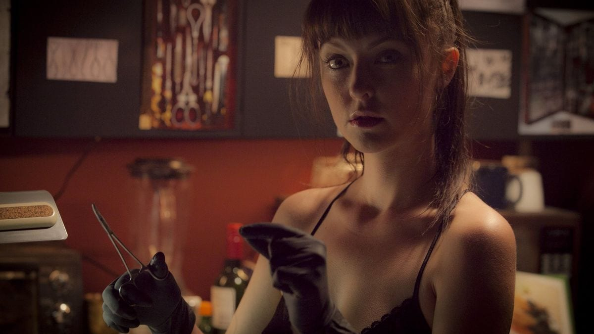 Mary (Katharine Isabelle) plays a promising young medical professional turned surgeon to the body modification underworld in American Mary (2012).