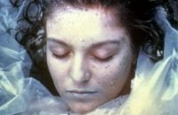 The corpse of Laura Palmer wrapped in plastic