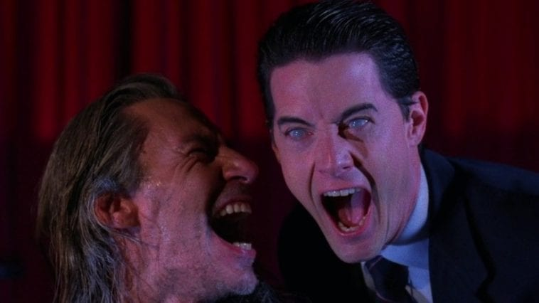 Bob and doppelcooper laugh maniacally in the red room