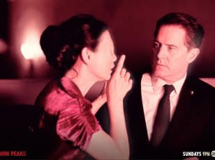 An eyeless asian woman tells Agent Cooper to sshh