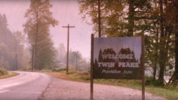 The welcome to Twin Peaks signpost