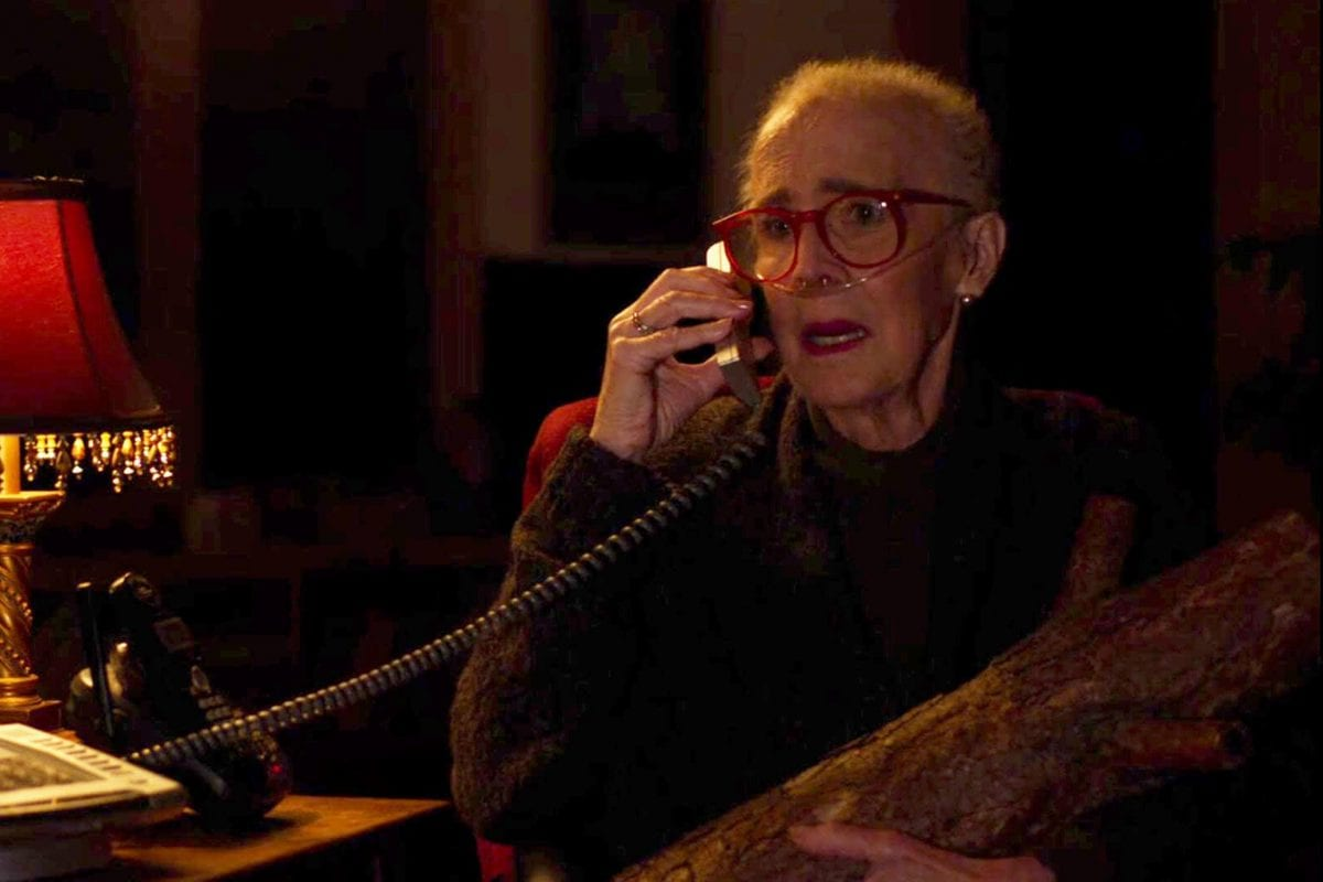 the log lady talks to hawk on the phone