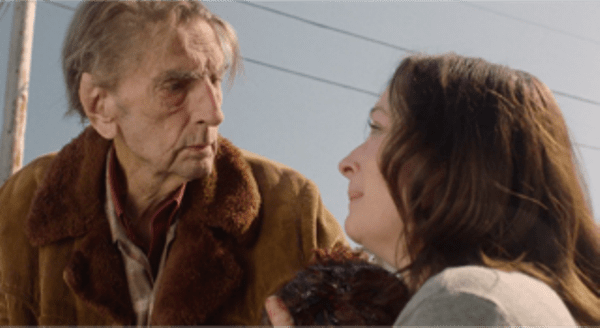 Lisa Coronado with Harry Dean Stanton in Twin Peaks shocking scene