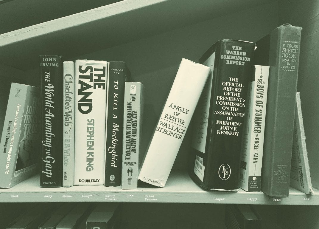 the bookhouse boys choice of books on a shelf