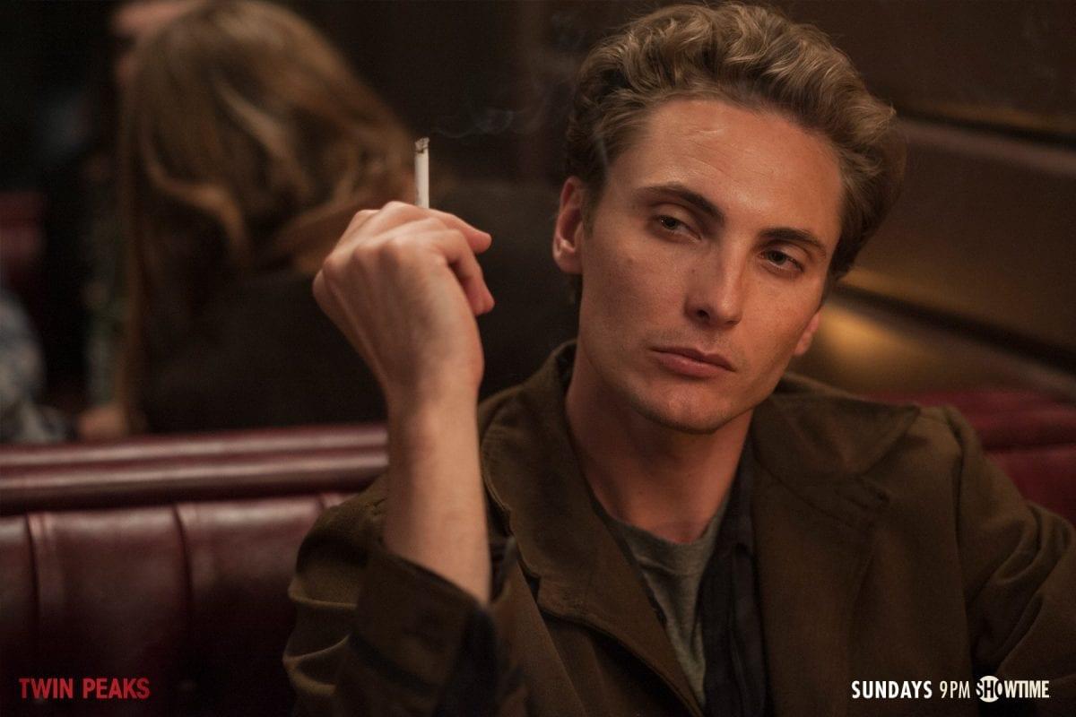 Richard Horne smoking in the Bang Bang Bar