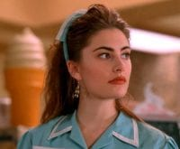 Shelly Johnson at the Double R Diner in her uniform