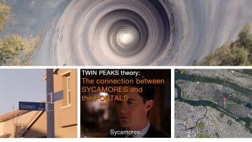 Sycamore trees and portals in Twin Peaks