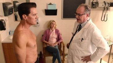 Dougie Jones has great abs, as noticed by his Doctor and Janey-E