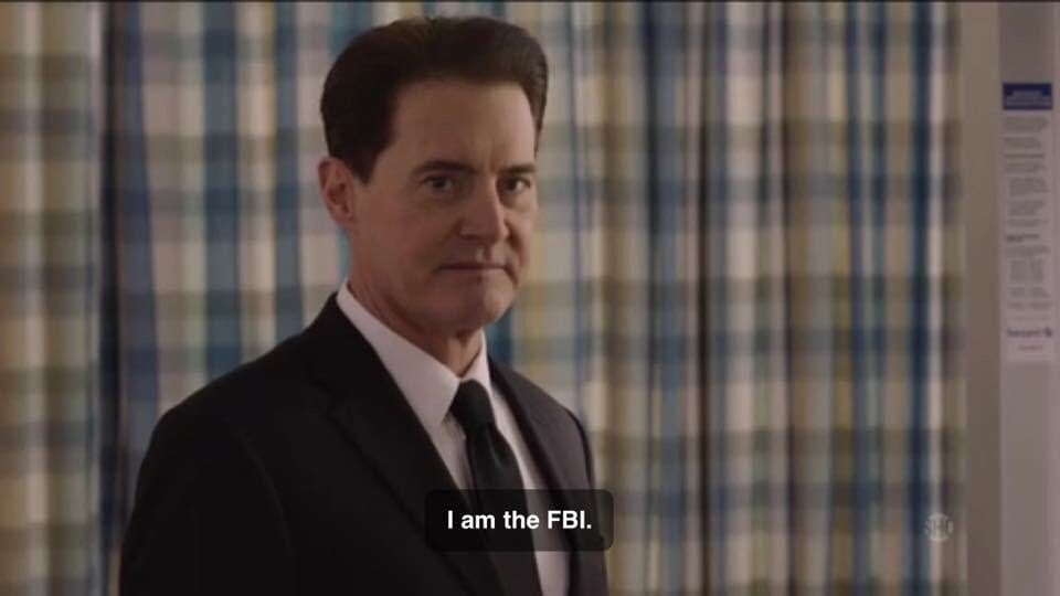Agent Cooper declares that he is the FBI