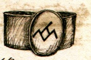 sketch of the owl ring from the secret history of twin peaks book