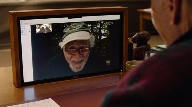 Warren Frost as Doc Hayward on Skype