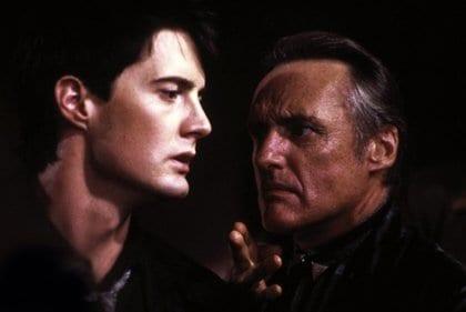 Frank Booth threatens Jeffrey Beaumont in Blue Velvet