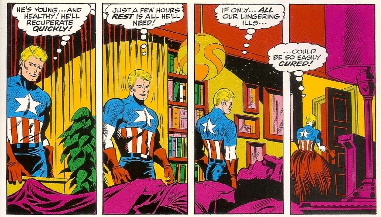 Captain America cartoon strip