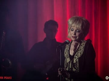 Julee Cruise sings in the roadhouse in the return