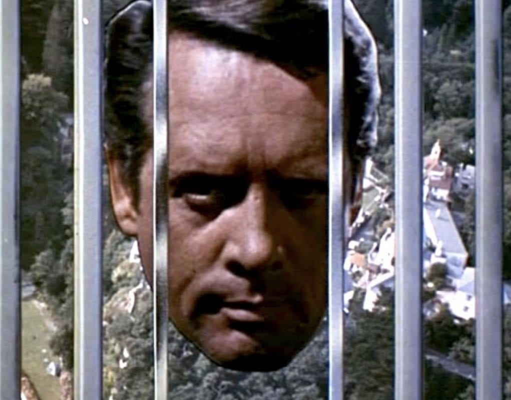 The final moments of an episode of The Prisoner always end with bars slamming shut in front of Number Six.