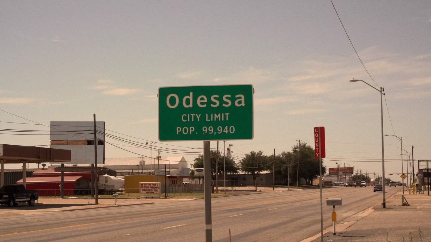 Odessa population sign