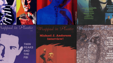 Covers of wrapped in plastic magazine