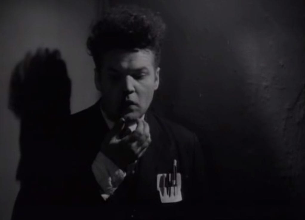 Henry Spencer with a nosebleed in Eraserhead