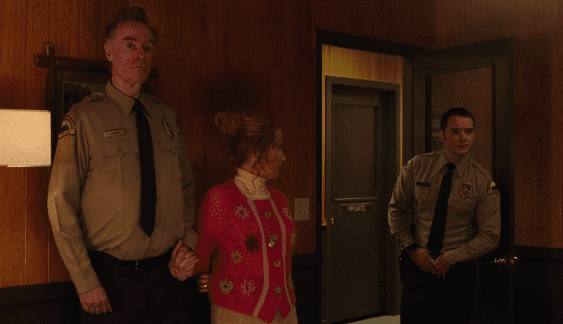 Andy, Lucy and Jesse at the Twin Peaks police dept