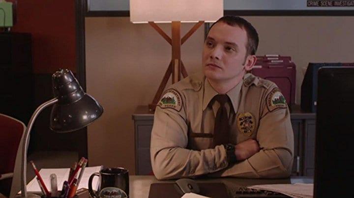 James Grixoni as deputy Jesse Holcomb in Twin Peaks