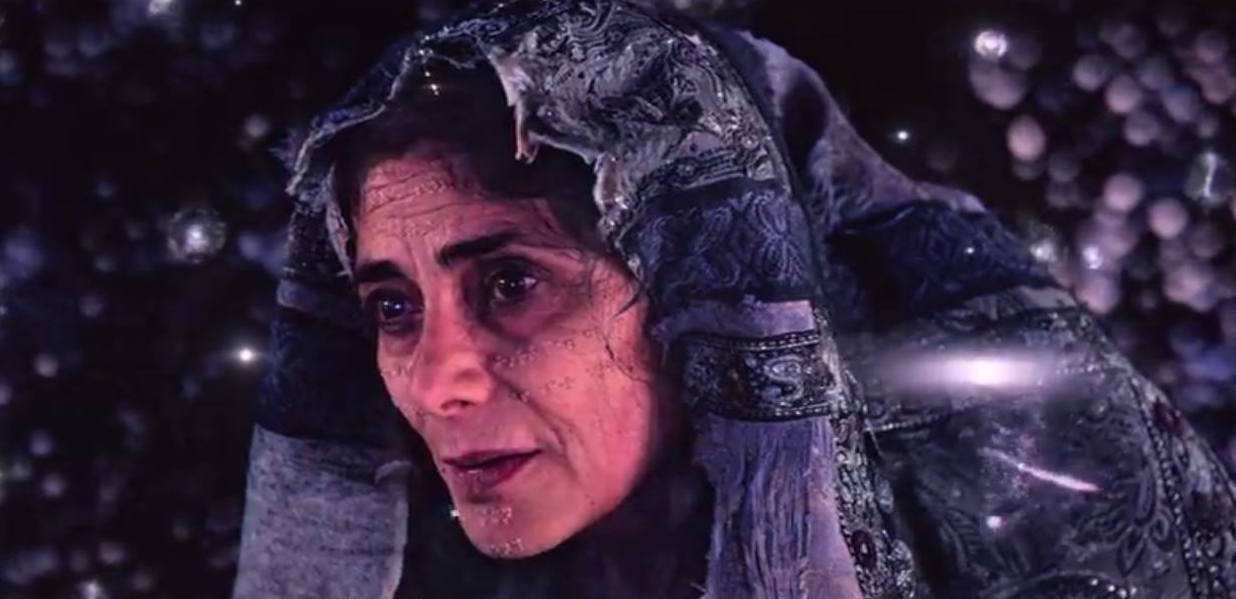Khatun with braille on her face, The OA