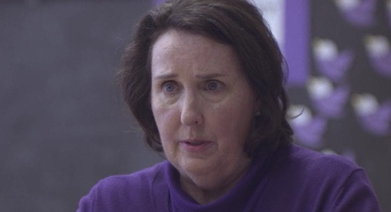 Mrs Broderick Allen BBA played by Phyllis Smith