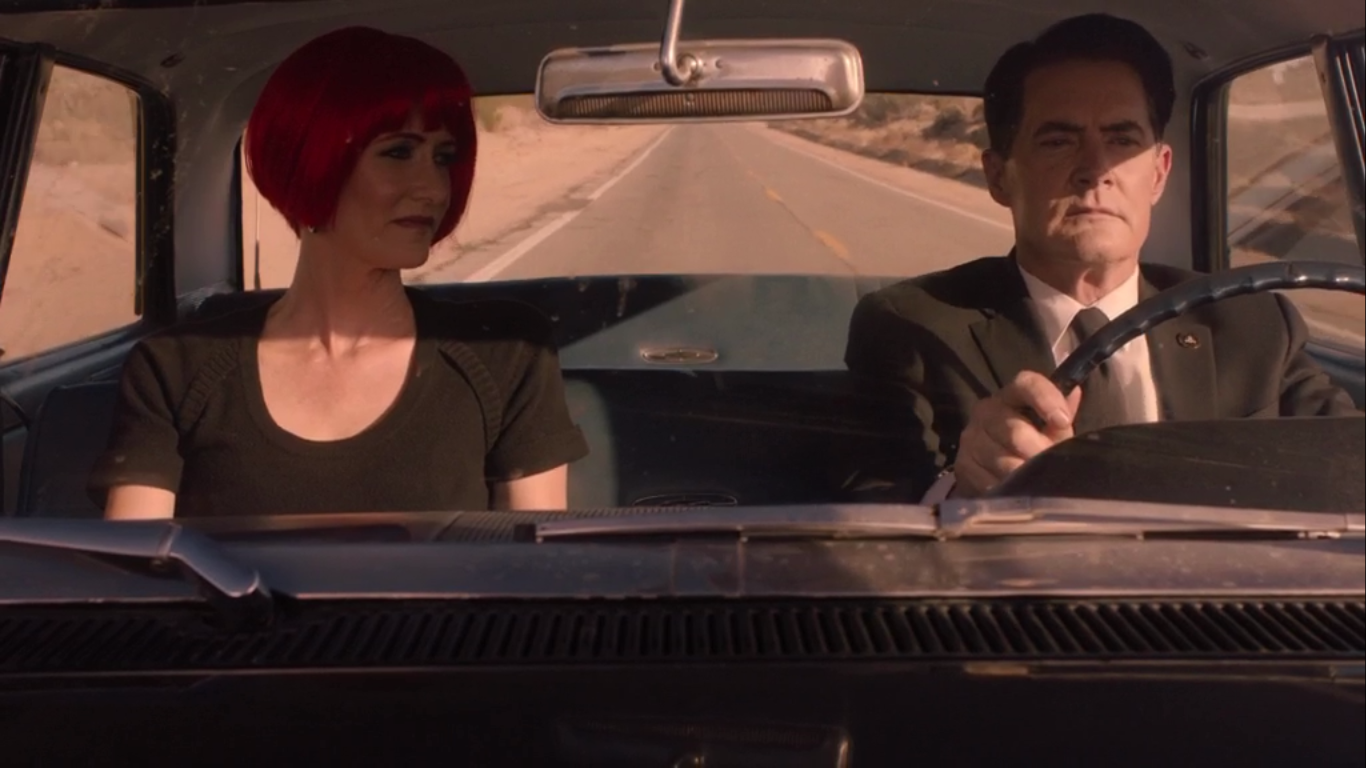 Laura Dern and Kyle MacLachlan in Twin Peaks: The Return