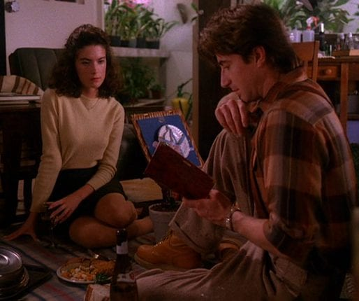Donna and Harold Smith have an indoor picnic and read Laura's diary