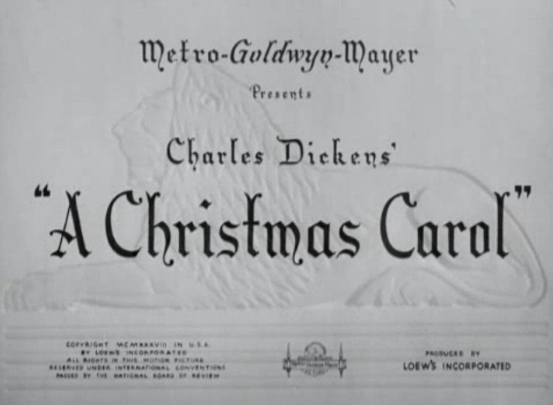 A Christmas Carol 1938 title card