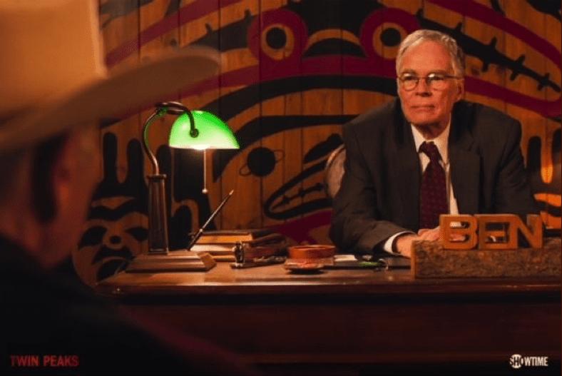 Ben Horne and Frank Truman talk in Ben's office