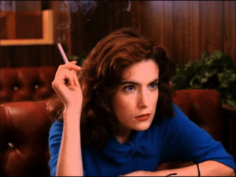 Donna Smokes in the Double R Diner
