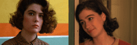 Two images of Donna Hayward played by different actresses