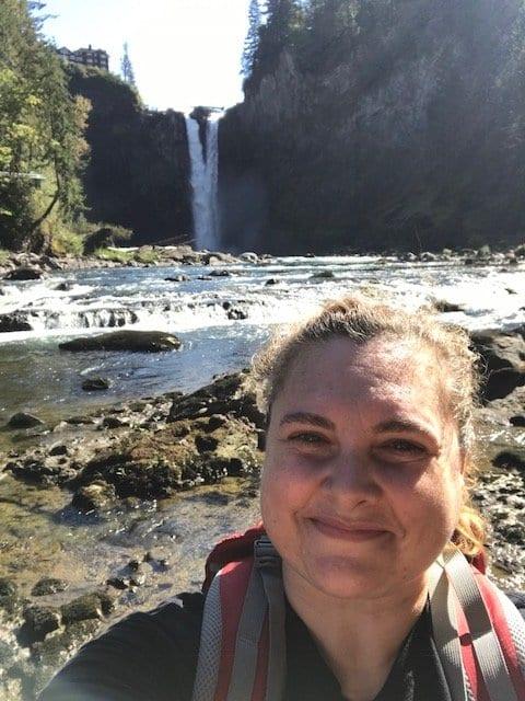 Jill Watson at Snoqualmie Falls