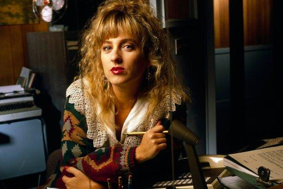 Kimmy Robertson as Lucy Moran in the sheriffs station