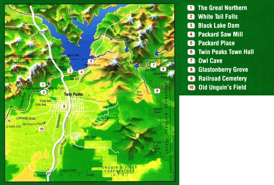 The Access Guide to Twin Peaks map