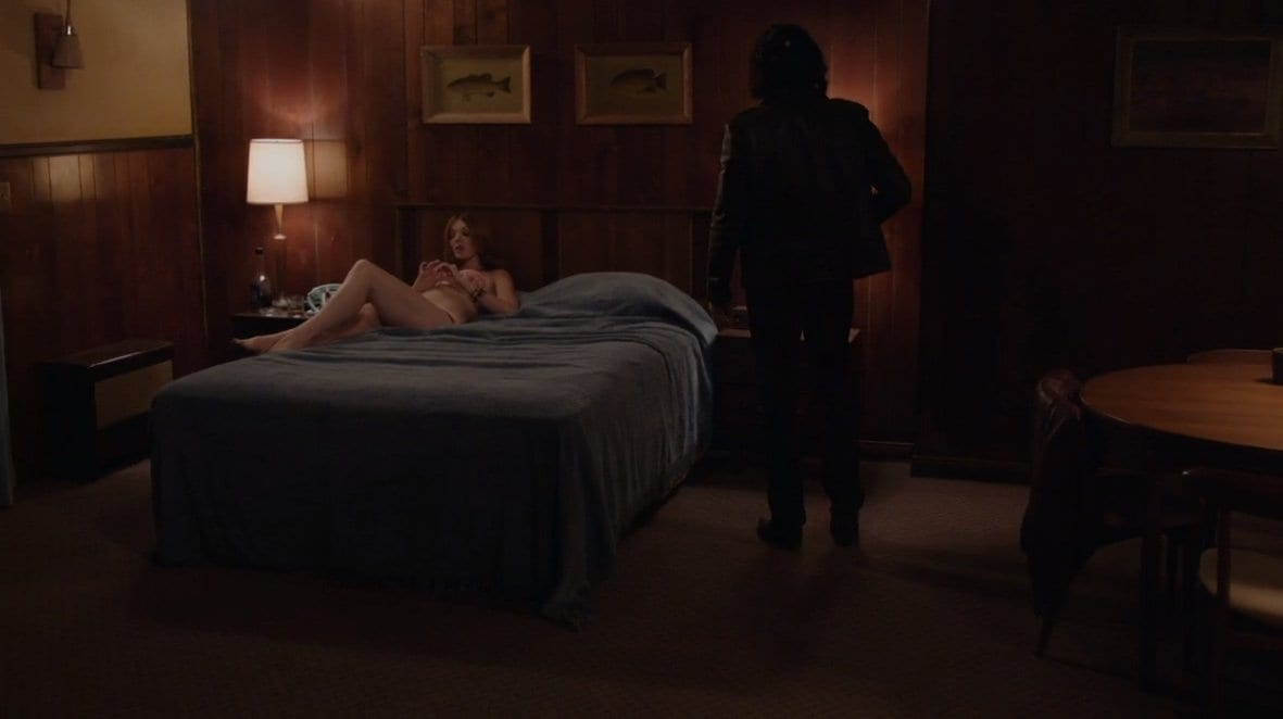 Darya and Mr C in a motel in South Dakota