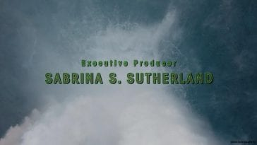 Executive Producer Sabrina Sutherland in the Twin Peaks opening credits