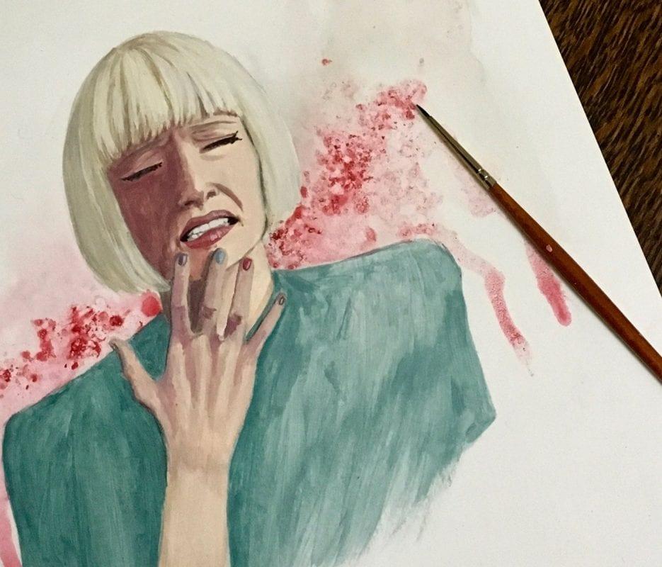 Diane in progress- Copyright Jess Purser