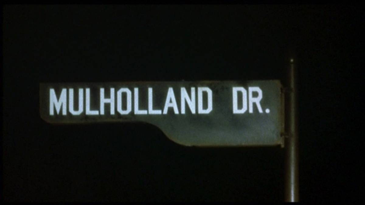 Mulholland Drive Street Sign at night