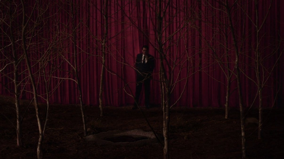 Cooper leaves the black lodge and re-enters the circle of sycamores