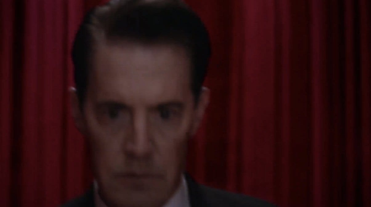 Cooper is shaken in the black lodge