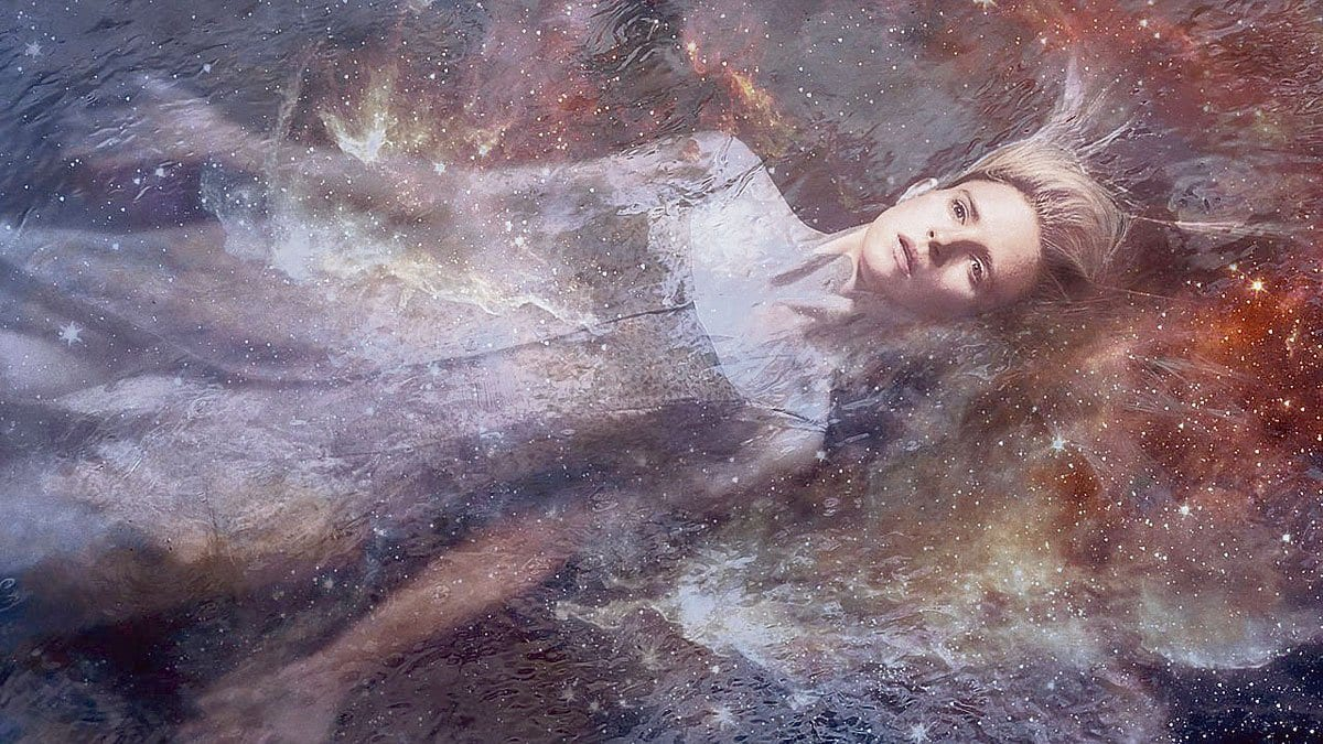 Art of the OA floating through space