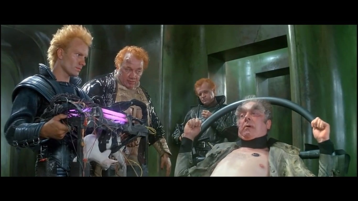 Sting and three other men in Dune