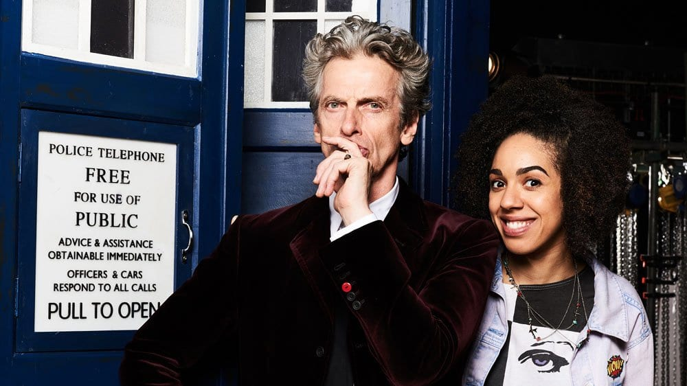 Pearl Mackie as Bill and Peter Capaldi as The Doctor