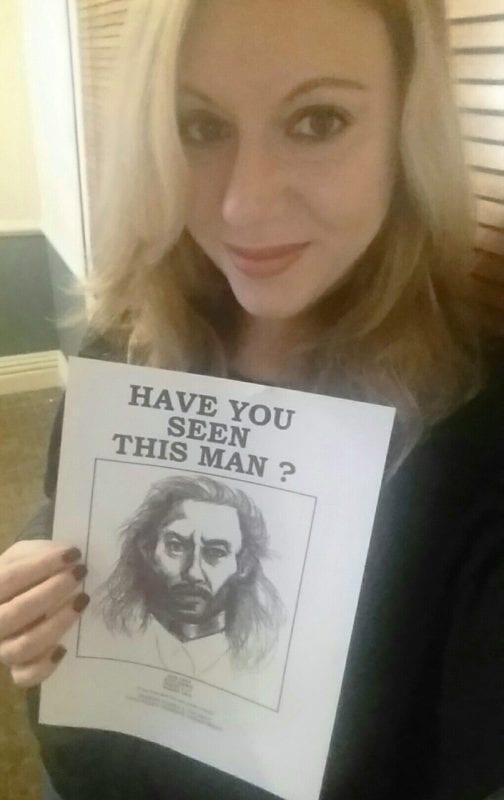 Mya with a BOB poster
