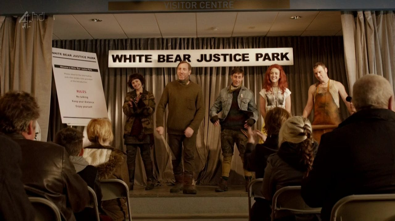 The White Bear Justice Park takes a bow at the end of the show