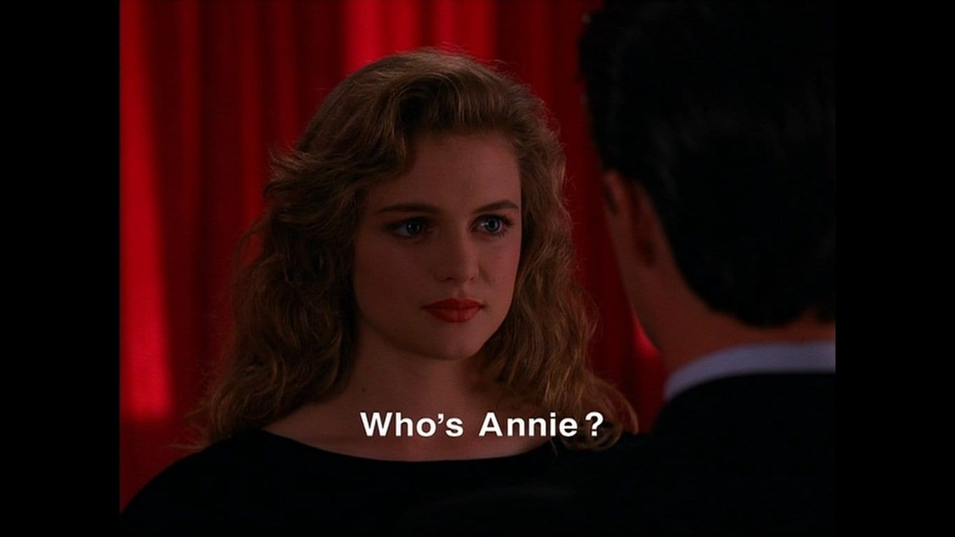Heather Graham as Annie Blackburn in the Black Lodge