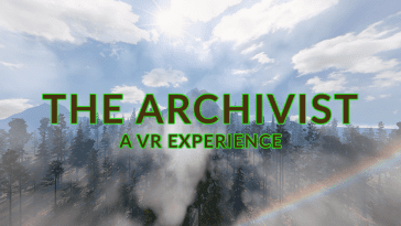 The Archivist VR experience title screen